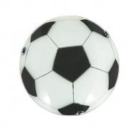 Plafon 8x30cm Lampex P1 Soccer biało-czarny