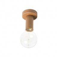 Plafon Lampex 15x11cm Woody brązowy
