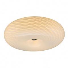 Plafon Opal Deluxe Lampex 48cm mleczno-biały