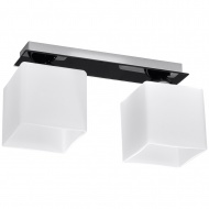 Plafon Piazza 2 35x12cm Sollux Lighting biało-czarny