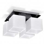 Plafon Piazza 4 30x30cm Sollux Lighting biało-czarny
