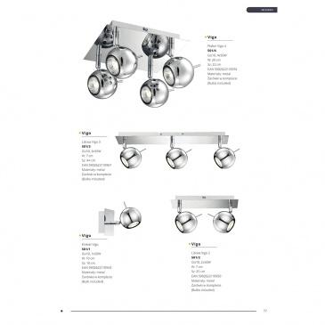 Plafon 20x22cm Lampex Vigo 4 srebrny