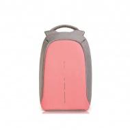Plecak antykradzieżowy 42cm XDDesign Bobby Compact różowo-szary