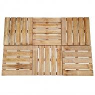 Płytki tarasowe, 6 szt., 50 x 50 cm, drewno FSC, brązowe