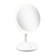 Podświetlane lustro stojące na USB 17 cm ADE białe