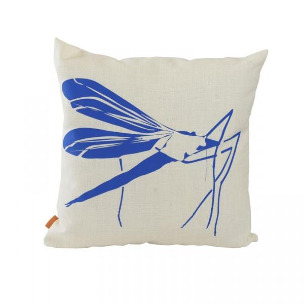 Poduszka Komar 50x50cm Gie El Botanica niebieski APL0151