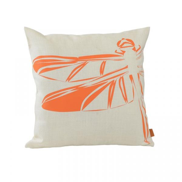 Poduszka Ważka 50x50cm Gie El Botanica pomarańczowy APL0150