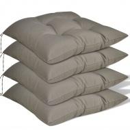 Poduszki na krzesła, 4 szt., 40x40x8 cm, brązowe