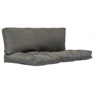 Poduszki na paletę, 2 szt., szare, poliester