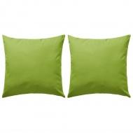 Poduszki na zewnątrz, 2 szt., 60 x 60 cm, zielone jabłuszko