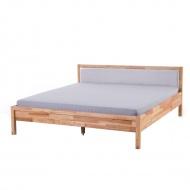 Podwójne łóżko drewniane ze stelażem 180x200 cm, szare Giovedi