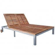 Podwójny leżak, lite drewno akacjowe