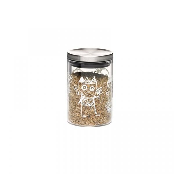 Pojemnik kuchenny ze stalową pokrywką 8,3 cm Aida Denmark Pure Friends A20804