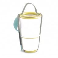 Pojemnik LUNCH POT BLACK+BLUM żółto-biały