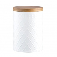 Pojemnik na kawę 1,35l Typhoon Embossed biały