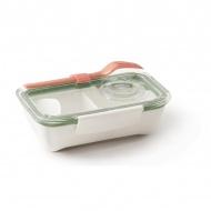 Pojemnik na lunch 500ml Black+Blum Bento Box biało-oliwkowy