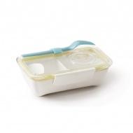 Pojemnik na lunch 500ml Black+Blum Bento Box biało-żółty