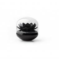 Pojemnik na patyczki do uszu Lotus czarny 10157-BK-BK