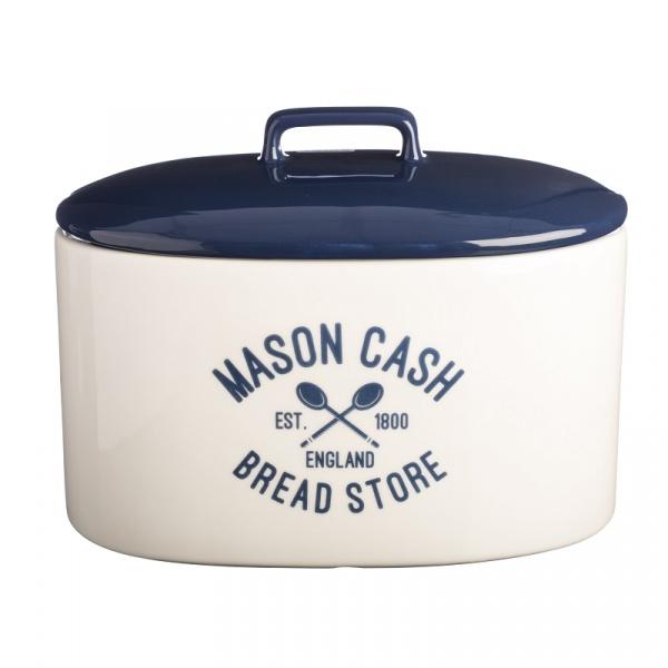 Pojemnik na pieczywo 31x18x23,5cm Mason Cash Varsity granatowo-biały 2001.664