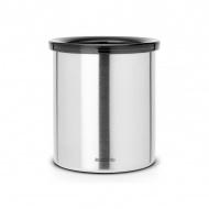 Pojemnik na saszetki po herbacie/kawie 11cm Brabantia srebrny