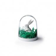 Pojemnik na spinacze królik biały 10130-WH