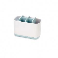 Pojemnik na szczoteczki do zębów duży 16,8x8,4x12,6cm Joseph Joseph EasyStore biało-błękitny