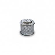 Pojemnik na węgiel z przykrywką 10x13cm LotusGrill srebrny