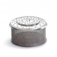 Pojemnik na węgiel z przykrywką 10x18cm LotusGrill srebrny