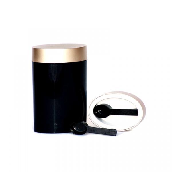 Pojemnik owalny 0,6 l O'LaLa czarno-złoty OL-852