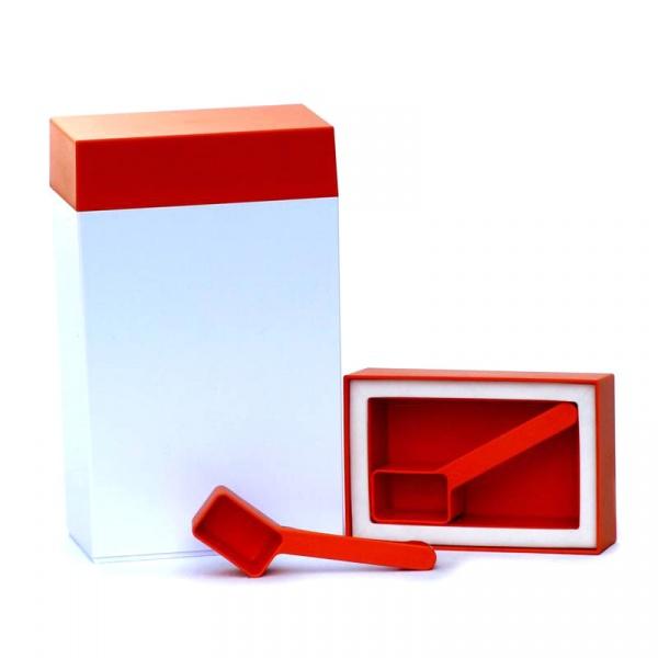 Pojemnik prostokątny 1,25 l l O'LaLa biało-pomarańczowy OL-241