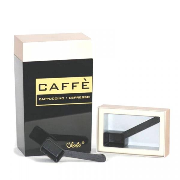 Pojemnik prostokątny 1,25 l l O'LaLa Coffee and Tea czarno-złoty OL-269