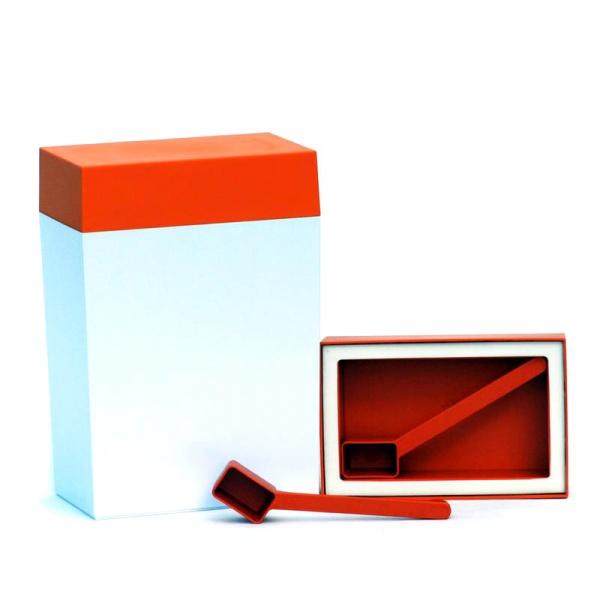 Pojemnik prostokątny 3 l O'LaLa biało-pomarańczowy OL-156