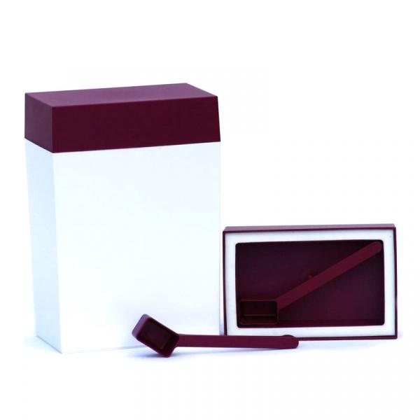 Pojemnik prostokątny 3 l O'LaLa biało-rubinowy OL-157