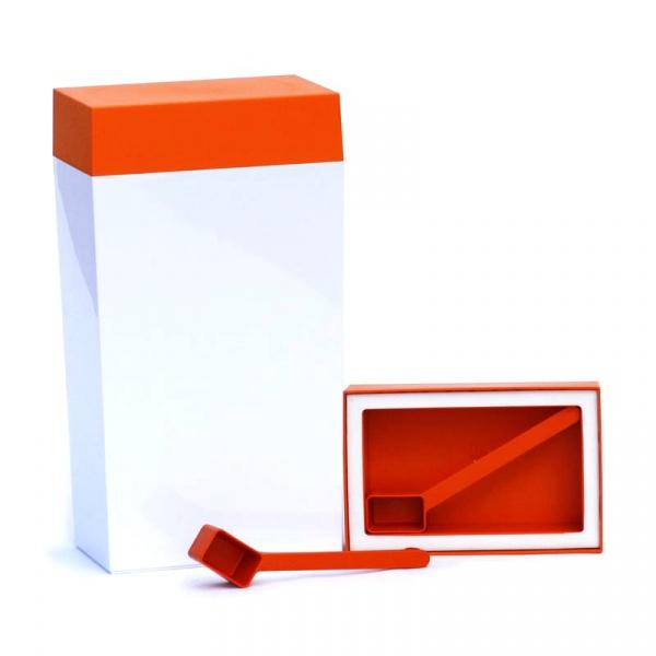 Pojemnik prostokątny 4 l O'LaLa biało-pomarańczowy OL-103