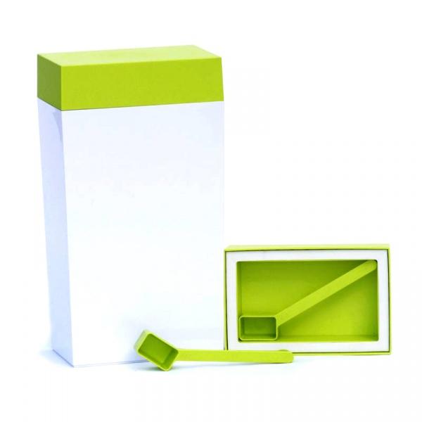 Pojemnik prostokątny 4 l O'LaLa biało-zielony OL-101