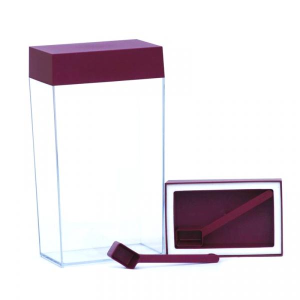 Pojemnik prostokątny 4 l O'LaLa przezroczysto-rubinowy OL-117