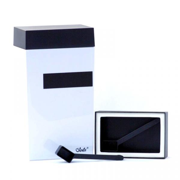 Pojemnik prostokątny 4 l O'LaLa Your Choice biało-czarny OL-123