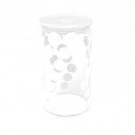 Pojemnik szklany 1,1 L Zak! Design biały
