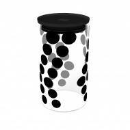 Pojemnik szklany 1,1 L Zak! Design czarny