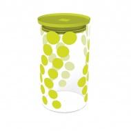 Pojemnik szklany 1,1 L Zak! Design zielony