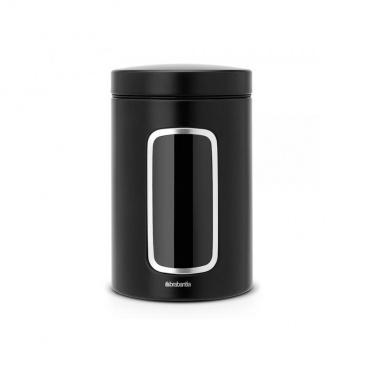Pojemnik kuchenny z okienkiem 1,4L Brabantia czarny matowy