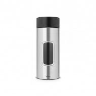Pojemnik z okienkiem ze stali matowej FPP 2,2L Brabantia srebrno-czarny