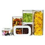 Pojemniki kuchenne na żywność zestaw 5szt. Modula 106994030600