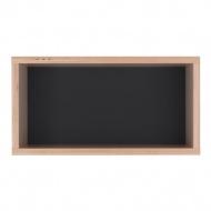 Półka 40x21 Durbas Style Kółko Krzyżyk czarna