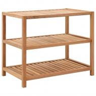 Półka łazienkowa z drewna orzechowego, 65x40x55 cm