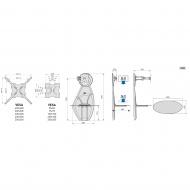 Półka pod Tv z maskownicą Ghost Design 1500 z rotacją czarna