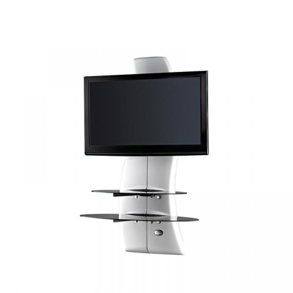 Półka pod TV z maskownicą Ghost Design 2000 z rotacją Meliconi biała 488087