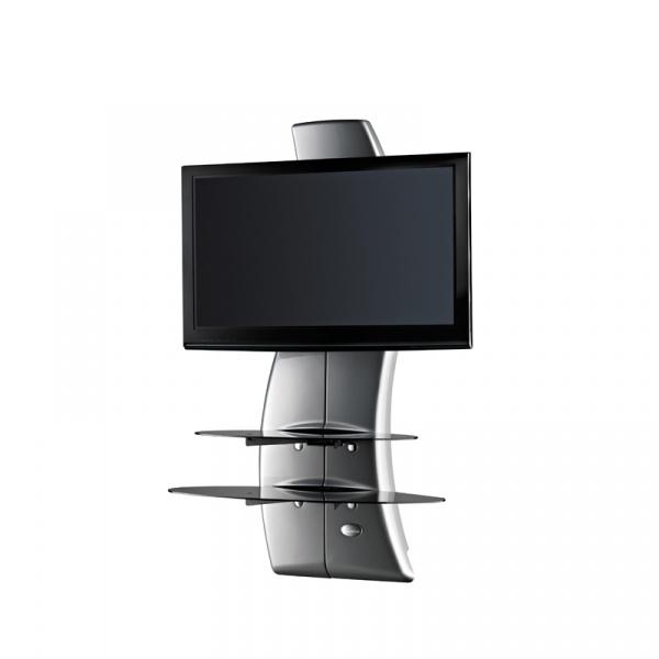 Półka pod TV z maskownicą Ghost Design 2000 z rotacją Meliconi srebrna 488089
