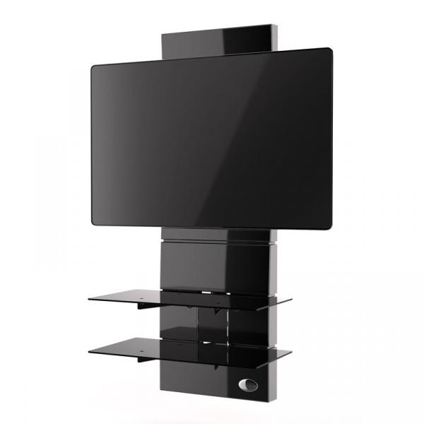 Półka pod TV z maskownicą Ghost Design 3000 Meliconi czarna 488300BA