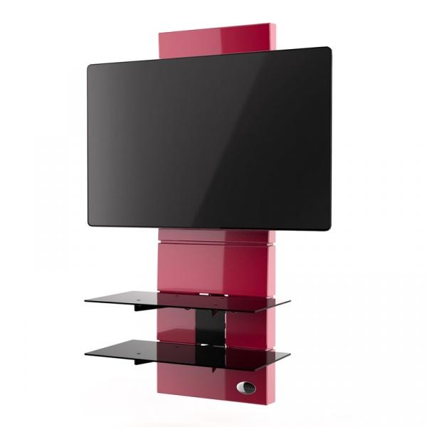 Półka pod TV z maskownicą Ghost Design 3000 Meliconi czerwona 488302BA